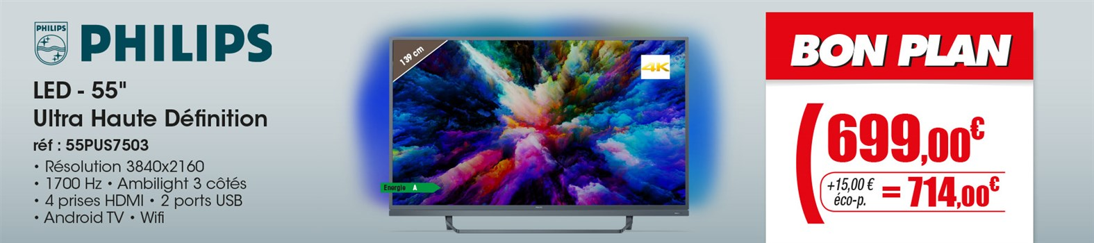 TV LED Philips 55PUS7503/12